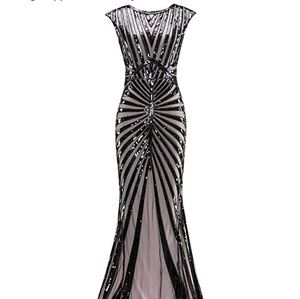1920s 1930s sequin dress